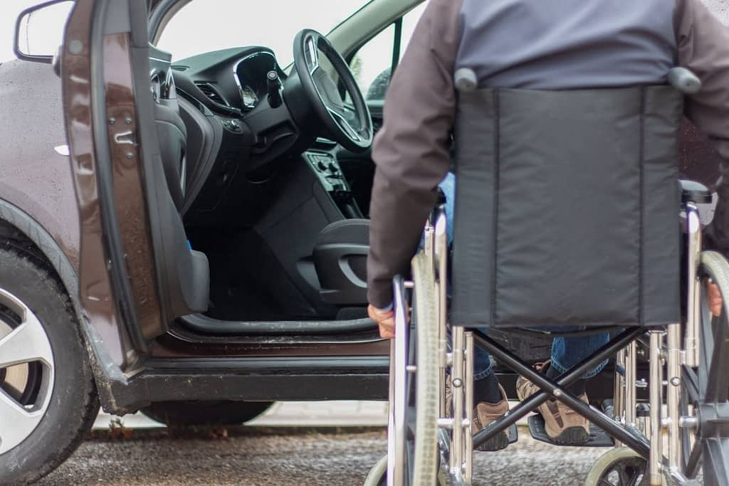 How to transport someone in a wheelchair