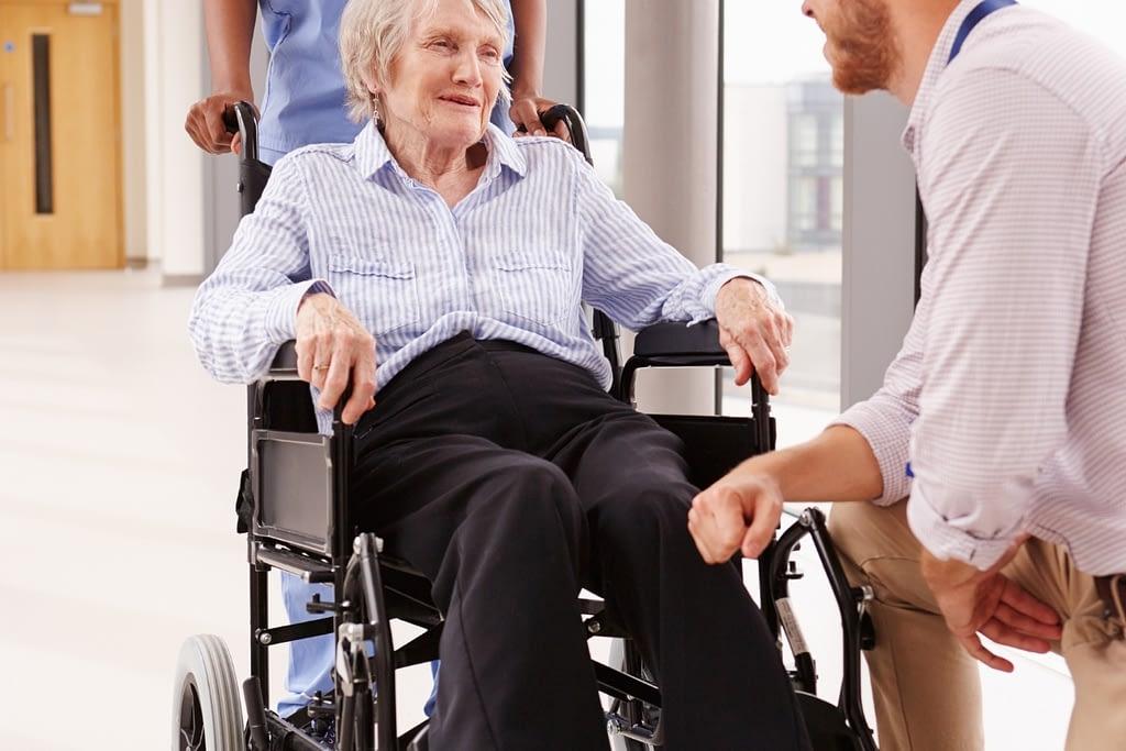 Wheelchair Patient Discharge
